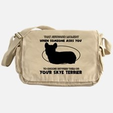 Skye Terrier dog funny designs Messenger Bag