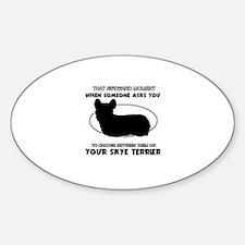 Skye Terrier dog funny designs Decal