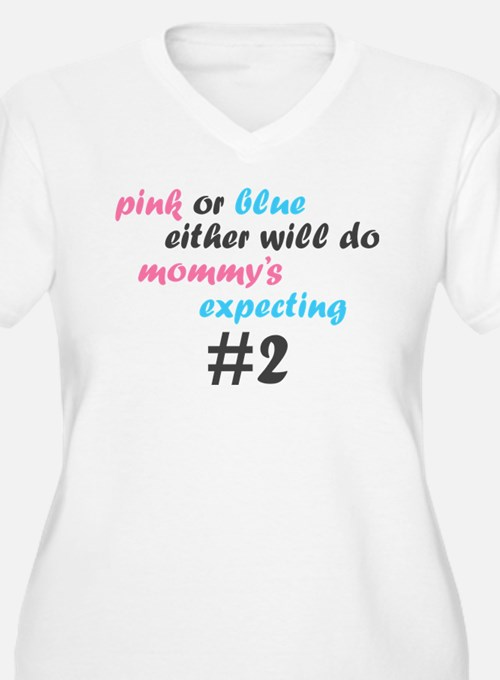 Pink or Blue Plus Size T-Shirt