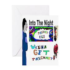 Pregnant Night Greeting Card