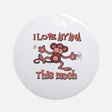 I love Aiyana Ornament (Round)