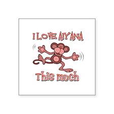 "I love Aiyana Square Sticker 3"" x 3"""