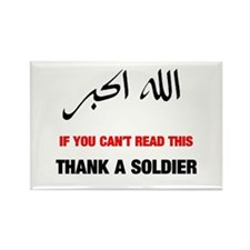 Thank a Soldier Rectangle Magnet