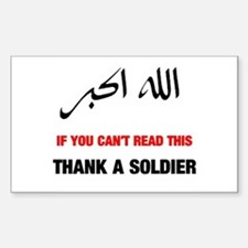 Thank a Soldier Rectangle Decal