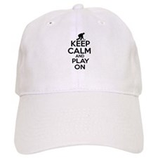 Keep calm and play Lawnbowl Baseball Cap
