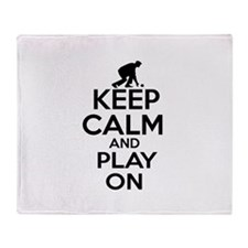 Keep calm and play Lawnbowl Throw Blanket