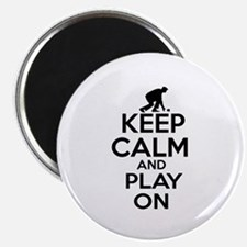 """Keep calm and play Lawnbowl 2.25"""" Magnet (10 pack)"""