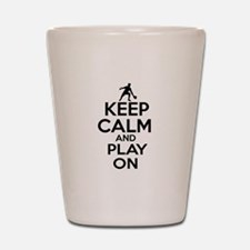 Keep calm and play Ping Pong Shot Glass