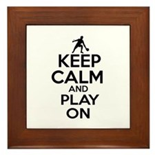 Keep calm and play Ping Pong Framed Tile