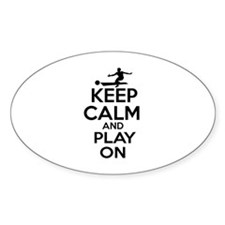 Keep calm and play Bowl Decal