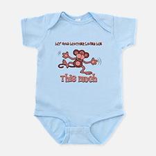 God Mother loves me this much Infant Bodysuit