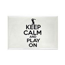 Keep calm and play Cricket Rectangle Magnet