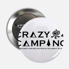 """Crazy For Camping Logo Merchandise 2.25"""" Button"""