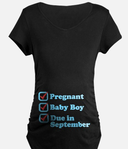 Due in September Maternity T-Shirt
