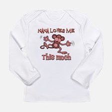 Nana loves me this much Long Sleeve Infant T-Shirt