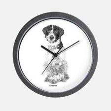 German Wire Haired Pointer Wall Clock