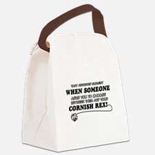 Cornish Rex cat gifts Canvas Lunch Bag