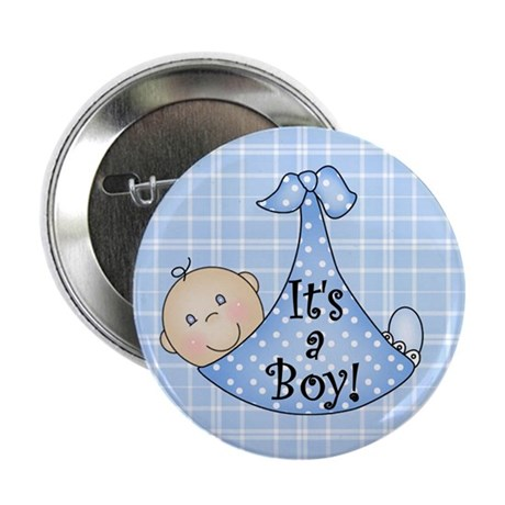 "It's a Boy (White) 2.25"" Button (100 pack)"