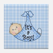 It's a Boy (White) Tile Coaster