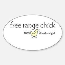 Free Range Chick Rectangle Decal