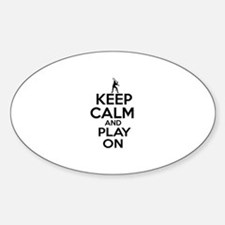 Keep calm and play Squach Sticker (Oval)