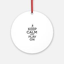 Keep calm and play Squach Ornament (Round)