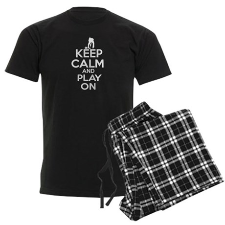 Keep calm and play Curl Men's Dark Pajamas