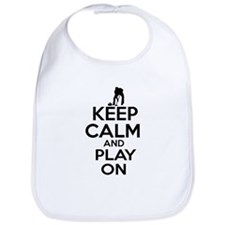Keep calm and play Curl Bib