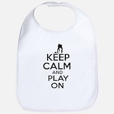 Keep calm and play Curl Bib