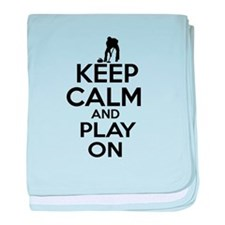 Keep calm and play Curl baby blanket