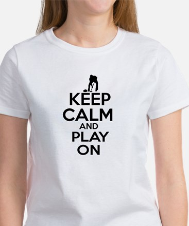 Keep calm and play Curl Women's T-Shirt