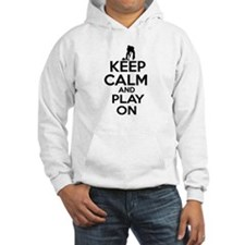 Keep calm and play Curl Hoodie