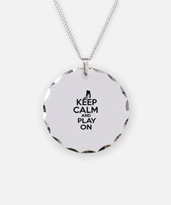 Keep calm and play Curl Necklace