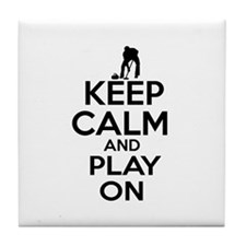 Keep calm and play Curl Tile Coaster
