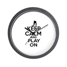 Keep calm and play Curl Wall Clock