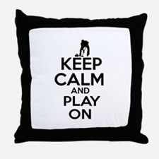 Keep calm and play Curl Throw Pillow