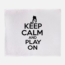 Keep calm and play Curl Throw Blanket