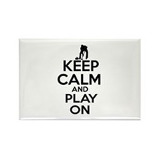 Keep calm and play Curl Rectangle Magnet