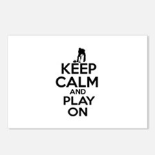 Keep calm and play Curl Postcards (Package of 8)