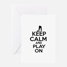 Keep calm and play Curl Greeting Card
