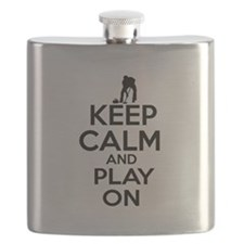 Keep calm and play Curl Flask