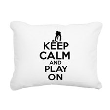 Keep calm and play Curl Rectangular Canvas Pillow