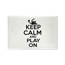 Keep calm and play Water Polo Rectangle Magnet (10