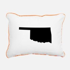 Black Rectangular Canvas Pillow