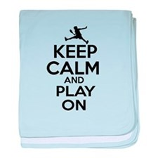 Keep calm and play Raquetball baby blanket