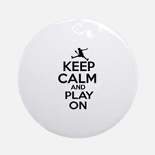 Keep calm and play Raquetball Ornament (Round)