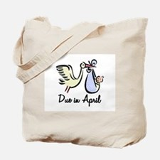 Due In April Stork Tote Bag