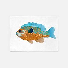 Longear Sunfish fish 2 5'x7'Area Rug