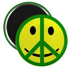 """Smiley Peace 2.25"""" Magnet (10 pack)"""
