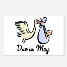 Due In May Stork Postcards (Package of 8)